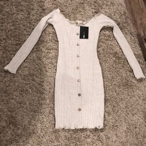 Fashion nova jacklyn off the shoulder mini dress